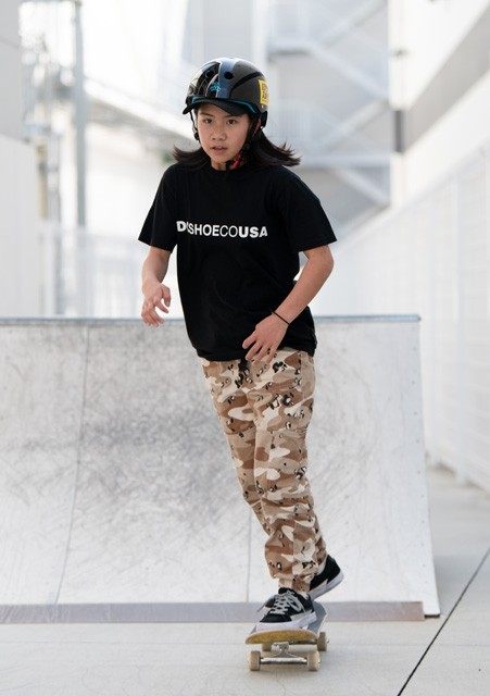 スケートボードの織田夢海