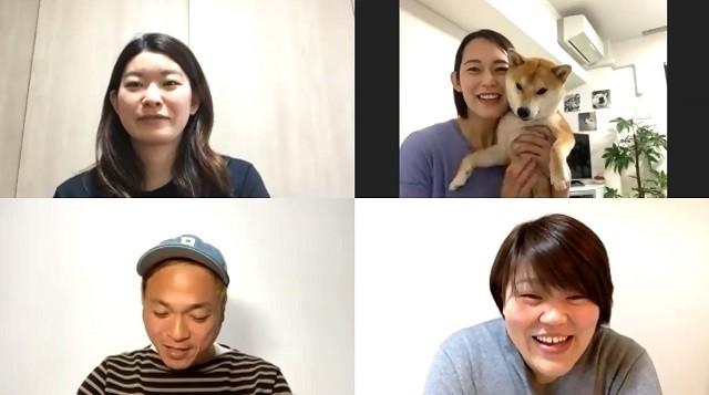 愛犬とともに登場した大山さん(写真右上)が語る五輪の思い出は?