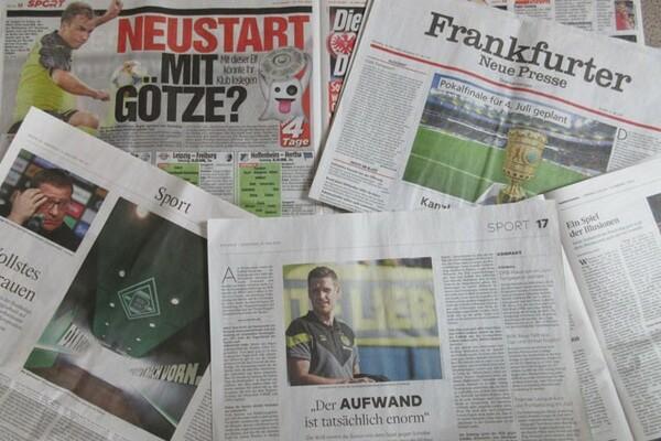 リーグ再開間近のドイツ新聞各紙はクラブやチームの動向に触れる記事が増えている