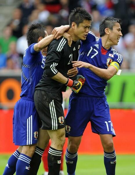 2010年南アフリカW杯を直前に控えたイングランドとの親善試合。初めて日本代表のGKとしてピッチに立った川島