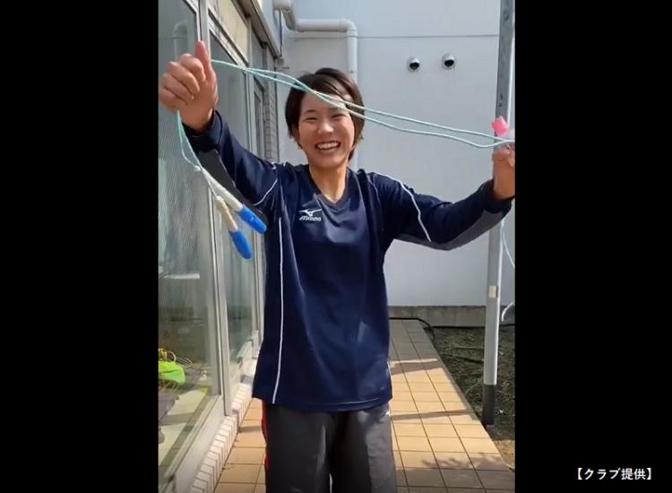 「おうち時間」で古賀選手は二重跳びを披露