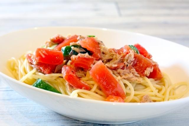 食欲減にも優しい・サッと作れる、トマトとツナの冷製パスタ