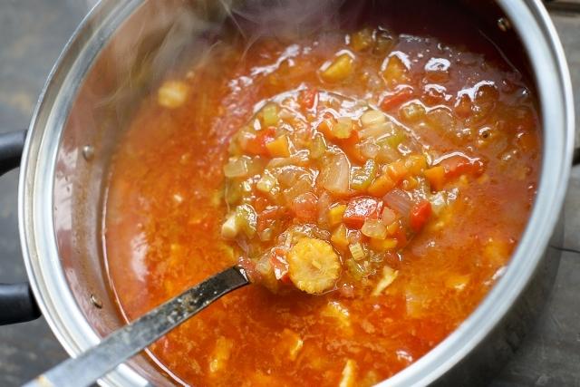 【レシピ】暑い夏キャンプにオススメ! 冷たいトマトスープ