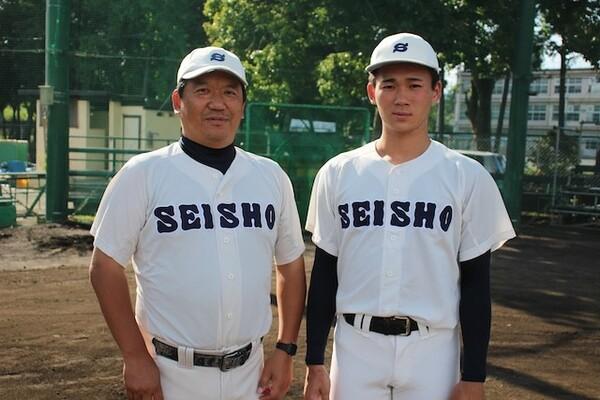 「父(写真左)とともに甲子園へ」と夢を抱き、静岡商への進学を決めた高田(写真右)
