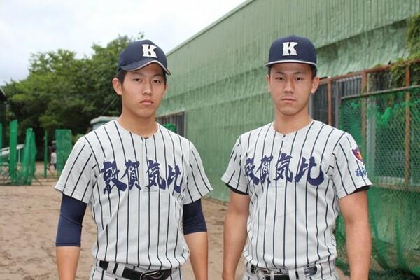 中学時代からお互いを意識していた笠島尚樹(写真左)、松村力(写真右)。共に切磋琢磨してきた2人が高校最後の夏に挑む