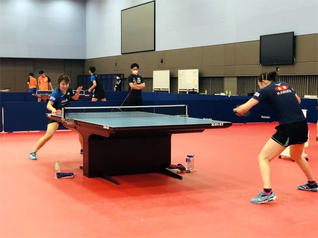 すでに代表選手すべてが内定している卓球。各選手はそれぞれの場所で、練習に励んでおり、「心配はしていない」(宮崎強化本部長)