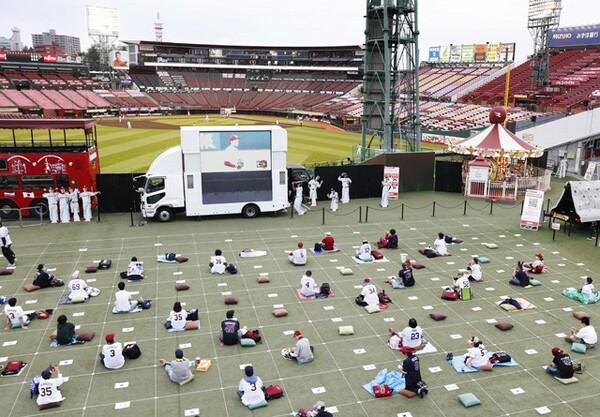 無観客試合の期間中に実施したライブビューイングでは、感染予防に考慮して実施。今後も、限られた観客動員が予想されるなか、リモートでの施策も検討していくという