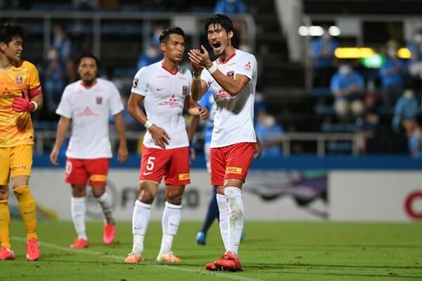 7月26日に行われた横浜FC戦、久々のスタメン出場で活躍を見せた浦和・鈴木大輔