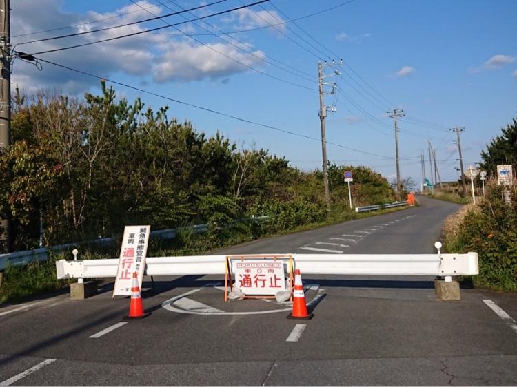 一宮海岸周辺の町道は4月24日から6月末まで通行止めになった