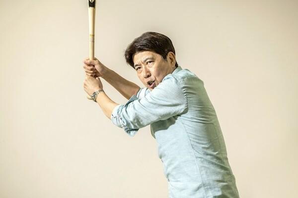 帝京高校野球部出身の石橋貴明。控え投手でベンチ入りはかなわなかった