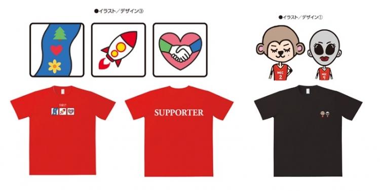8月には廣瀬選手&古賀選手がデザインをプロデュースし、SNSのファン投票で決定したTシャツが販売される