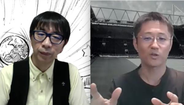 今回の「好きなサッカー実況アナランキング」で二桁の得票率を誇ったのは、倉敷アナ(写真左)と下田アナ(写真右)の2人だけだ。めったにないという同業者対談からも、その魅力が伝わってきた