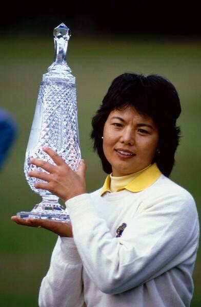1984年、メジャー昇格前の全英女子オープンで優勝を果たした岡本綾子プロ