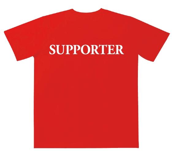 販売用の裏面デザインは「SUPPORTER」の文字
