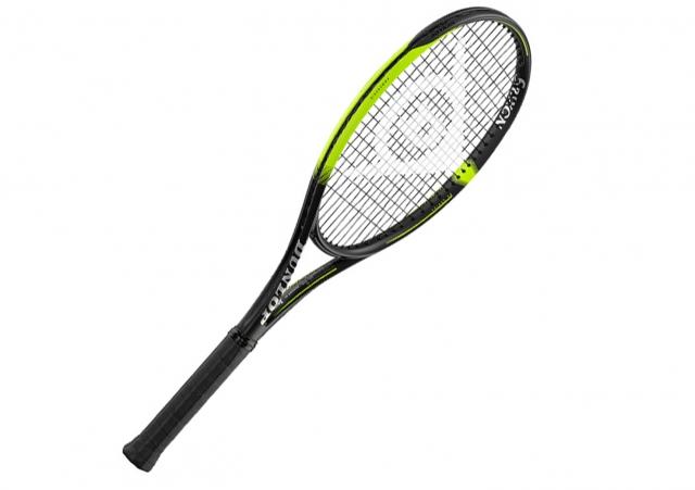 【ダンロップのテニスラケット】ボールの高さや飛距離を補正する弾道補正機能を搭載