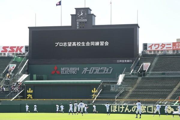 西日本地区は聖地・甲子園で行われ、連日スカウトの熱い視線が注がれた。東日本地区は9月5、6日に東京ドームで行われる予定。普段高校野球が行われないドームでどうなるのか、楽しみにしたい