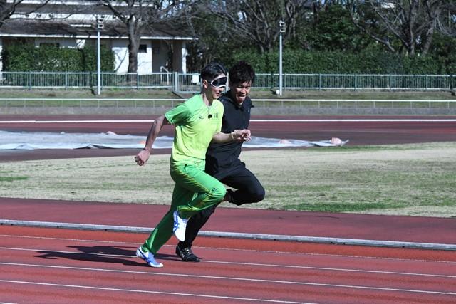 スプリンター、伴走者の両方を体験した武井さん(写真右)