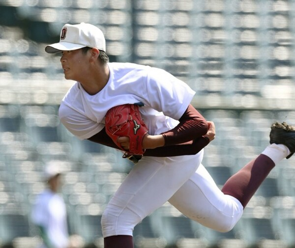 福岡大大濠・山下は甲子園球場で行われた西日本会場に参加。ドラフト1位候補として申し分ない投球をした
