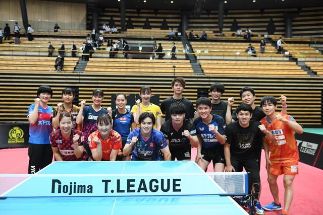 卓球日本代表やTリーグのトップ選手が集結。半年間、試合がなかった選手にとって良い実戦の機会となった