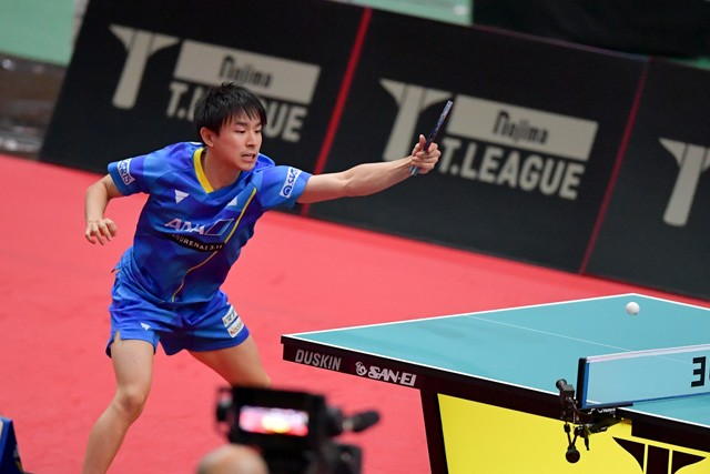 丹羽は女子日本代表とのスペシャルマッチでは、石川や早田らを相手に冷静なプレーで得点を重ねた