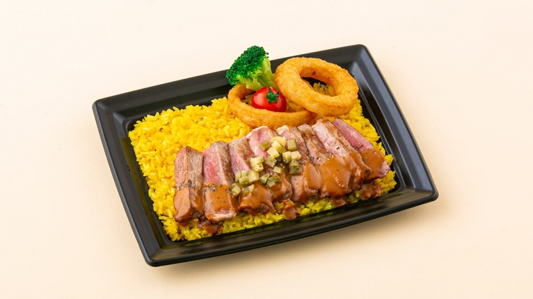 松田選手のアンガスステーキ丼