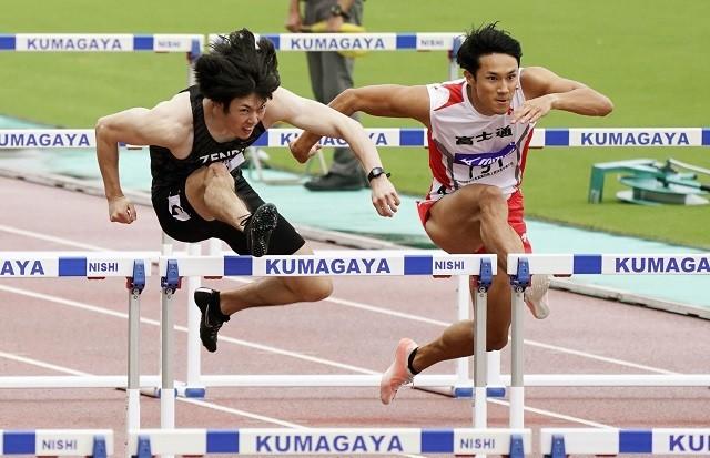 全日本実業団で優勝した高山(左)。ただ「スタートも決まらず、後半も垂れてしまった」と調子自体は上がっていない