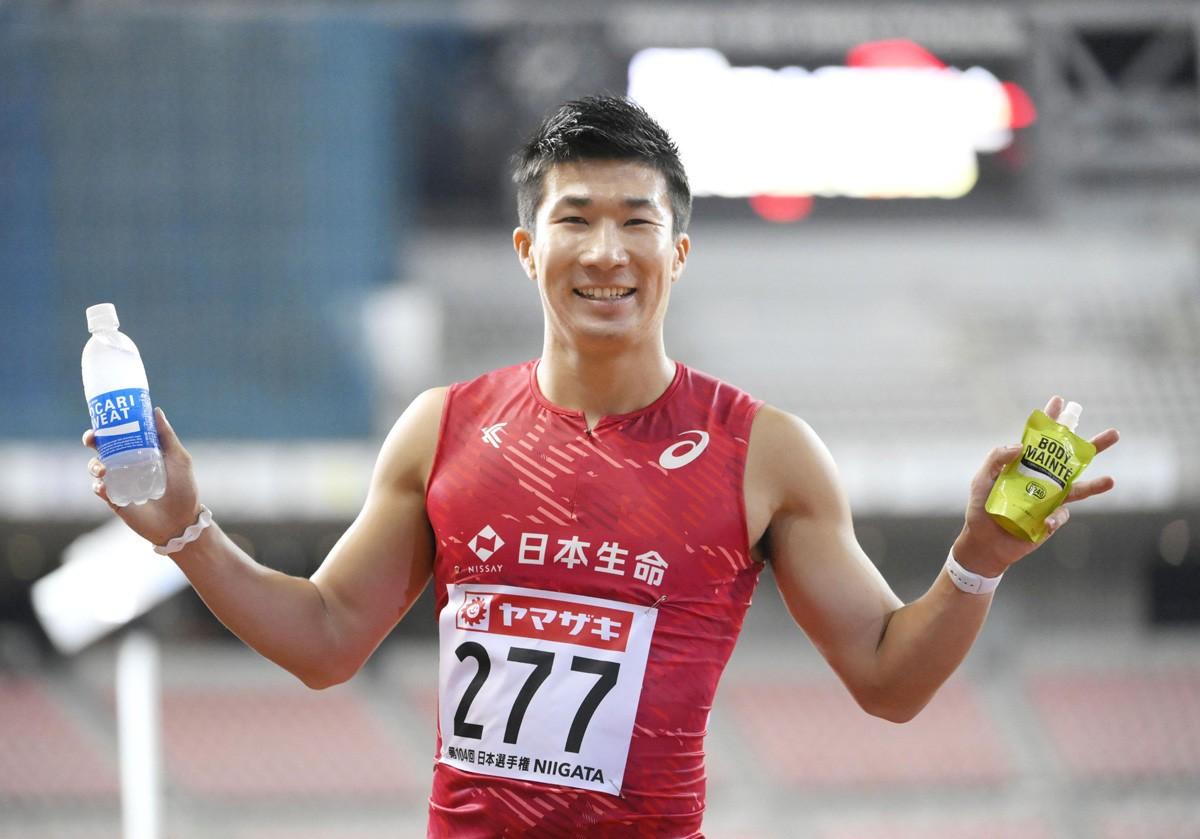 6年ぶりに日本選手権・100メートル優勝を果たした桐生