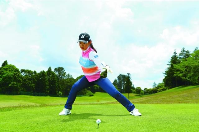 【吉田優利プロが女性ゴルファーに教えてくれる】下半身リードで10ヤードアップ!【一石三鳥の捻転ドリル】