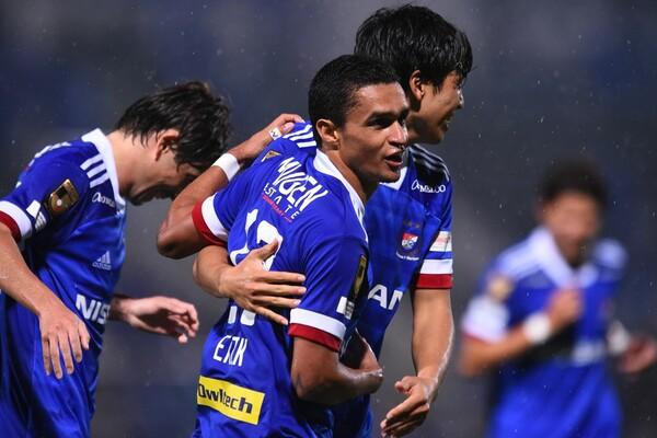 9月度のJ1月間MVPに選出された横浜FMエリキ。6試合連続ゴールを含む8試合8得点と高い決定力を見せた
