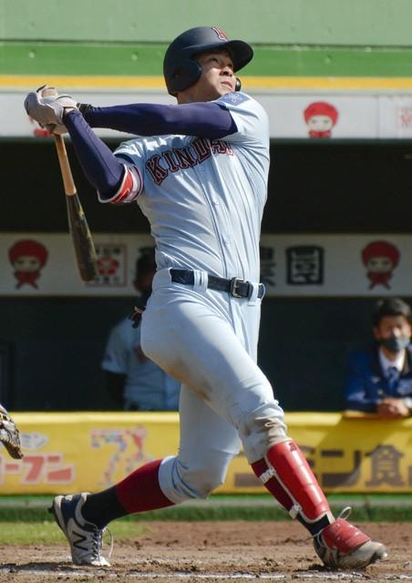 現在MLBで活躍する筒香嘉智(タンパベイ・レイズ)クラスの実力をもつと、米村スカウトも太鼓判を押す佐藤輝明(近畿大)