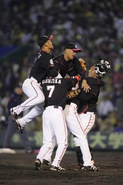 バレンタイン監督の手腕で、チームが一丸となり、日本一に輝いた