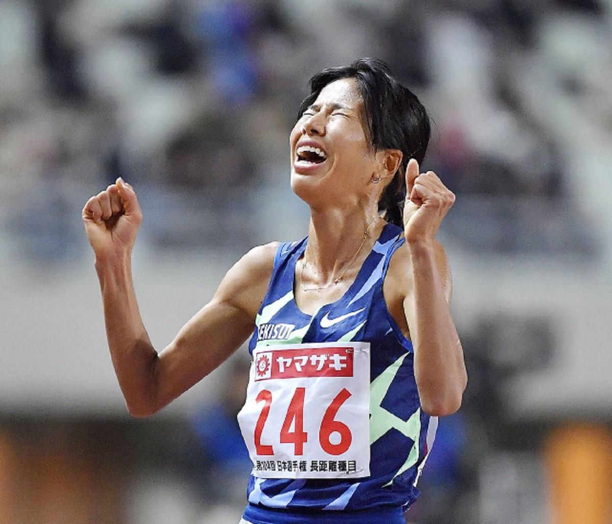 日本選手権では日本記録を大幅に塗り替えて優勝し、東京五輪代表に内定した