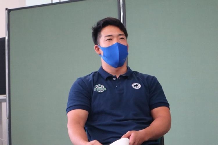 もうひとりの共同キャプテン、中嶋大希選手