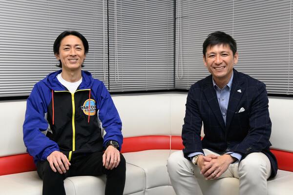 DAZNでの生配信という新境地を開く矢部さんと中田さん。「可能性は広がった」と喜ぶ