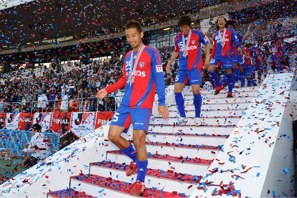 FC東京には14シーズン在籍。派手さはないが、堅実なプレーでチームを支えた。09年ナビスコ杯優勝に貢献