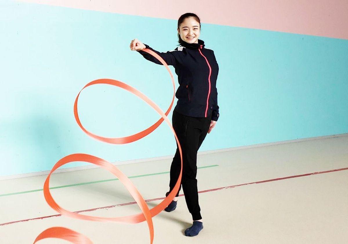 新体操の個人総合のエース・皆川夏穂に、2大会連続出場を目指す五輪と競技の見どころについて聞いた