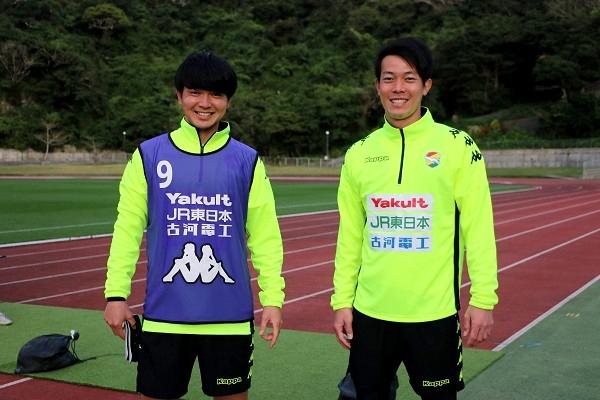 小林祐介選手と伊東幸敏選手。 ジェフに来てから仲良くなったという2人です。