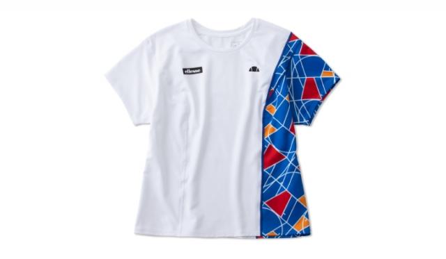 ▲「GS Tour Shirts(GS ツアー シャツ)※全豪オープンモデル」¥10,890(税込) サイズ:[Women's] S, M, L カラー:ブルー×プリント(写真), イエロー×プリント, ブラック×プリント, ブラック, ライトブラウン