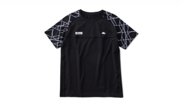 ▲「GS Tour Shirts(GS ツアー シャツ)※全豪オープンモデル」 ¥12,100(税込) サイズ:[Men's] M, L, XL カラー:ブラック×プリント(写真), イエロー×プリント, ブルー×プリント, ブラック, ライトブラウン