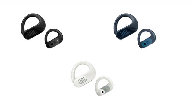 「JBL ENDURANCE PEAK II(エンデュランス ピーク2)」¥10,800(税込)※JBLオンラインストア カラー:左から ブラック, ホワイト, ブルー