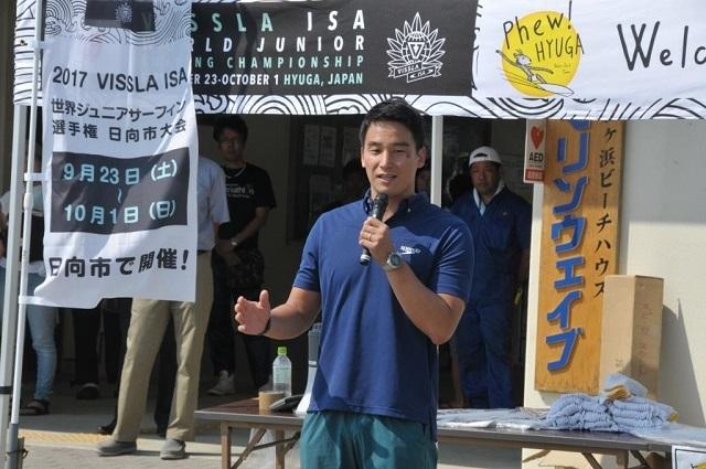 2017年ISA世界ジュニア大会での松田丈志氏