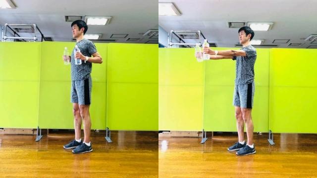 胸や背中を鍛える&有酸素運動。自宅でできる簡単ダイエット