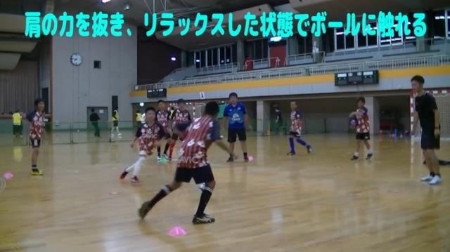 【サッカー練習メニュー】サッカーが上手くなるフットサル 「ダイレクトボール回し」4対1