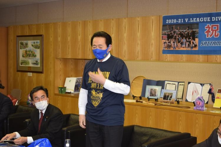 市民を代表して勇気をもらったと畠山市長