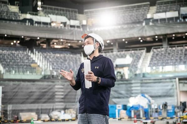 アリーナ建設にかかわった人たちの努力を全て知っているからこそ、社長である木村は自分の貢献を語ろうとはしない