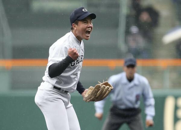 2試合で完封勝利を挙げるなど、選抜で大きなインパクトを残した中京大中京の畔柳。有力なドラフト候補のひとりだ