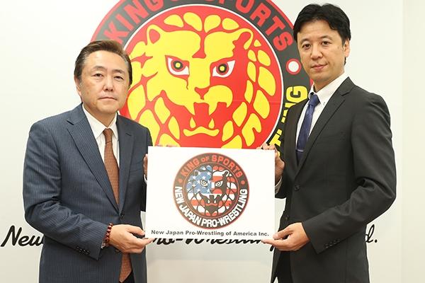 ※2019年10月21日、新日本プロレスのアメリカ法人設立会見より