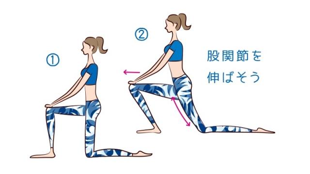 股関節を伸ばして立ち姿スッキリ