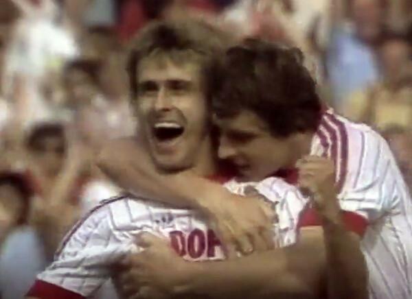 ケルンで唯一、手にしたタイトルが82-83シーズンのDFBカップ。F・ケルンとの決勝で殊勲のゴールを決めたのがリティだった