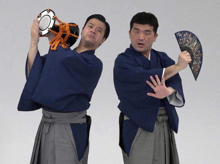 すゑひろがりずさん(左:南條庄助さん、右:三島達矢さん)
